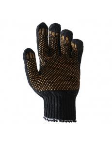 Перчатки вязаные с ПВХ 7,5 класс (230 тект) черные