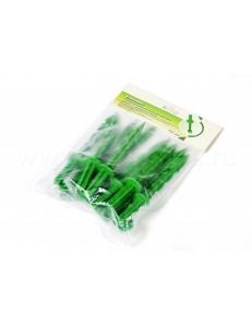 Колышки 20см пластиковые (10 шт. в уп.) с установочным кольцом для крепления укрывного материала и пленки (зеленые)