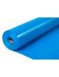 Тентовое полотно ТАРПАУЛИН 180 г/м2 строительное, 2Х50м, синий/серебрянный